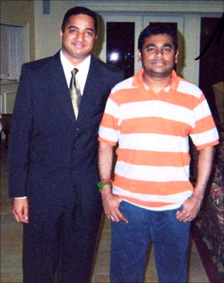 Rediff Reader Ajai A with AR Rahman