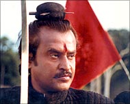 Rajnikanth in a still from one of his movies