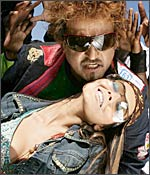 A still from Sivaji