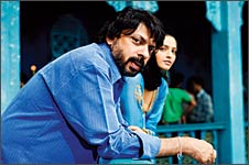 Sanjay Leela Bhansali on the sets of Saawariya.