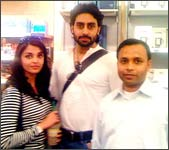 Aishwarya Rai and Abhishek Bachchan in Boston