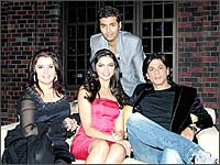 Farah Khan, Deepika Padukone, SRK and Karan Johar in Koffee With Karan