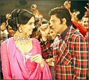 A still from Om Shanti Om.