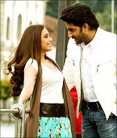 Rani Mukherji and Abhishek Bachchan.