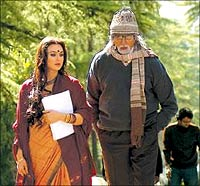 Preity Zinta and Amitabh Bachchan in a still from The Last Lear.