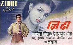 A movie poster of Ziddi.