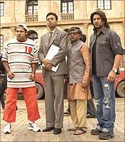 Suresh Menon, Irrfan Khan, Rajpal Yadav and Arshad Warsi in Krazzy 4