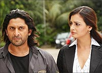 Arshad Warsi and Dia Mirza in Krazzy 4