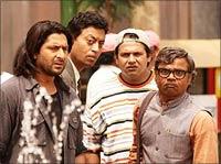 Arshad Warsi, Irrfan Khan, Suresh Menon and Rajpal Yadav in Krazzy 4