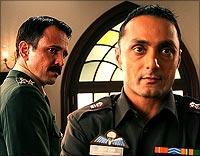 Kay Kay Menon and Rahul Bose in Shaurya