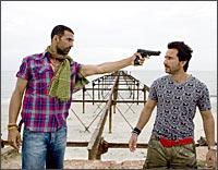 Akshay Kumar and Saif Ali Khan in Tashan