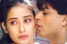 Manisha Koirala and Shah Rukh Khan in Dil Se
