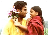 A still from Kannathil Muthamittal
