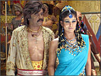 Rajnikanth and Nayanthara