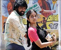 A still from Subramaniyapuram