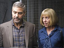 George Clooney and Francis McDormand in a scene from Burn After Reading