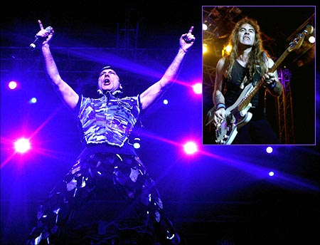 Bruce Dickinson and Steve Harris of Iron Maiden storm Mumbai