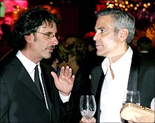 Joel Coen and George Clooney