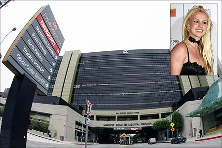 The Cedar-Sinai Medical Center in Los Angeles, where Britney Spears was hospitalised