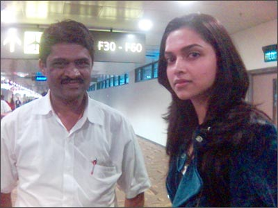 Reader Rajesh Devene with Deepika Padukone