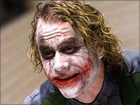 Heath Ledger as The Joker in Dark Knight