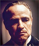 Marlon Brando in a still from the Godfather