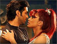 Harman Baweja and Priyanka Chopra in a still from Love Story 2050