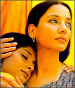 Nandita Das and Shabana Azmi in a still from Fire.