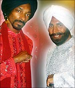 Rapper Snoop Dogg and Akshay