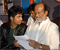 Prakash with Rajnikanth