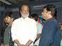 Rajnikanth and A R Rahman