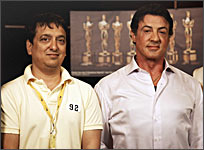 Sajid Nadiadwala and Sylvester Stallone