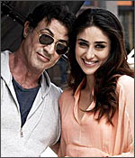 Sylvester Stallone and Kareena Kapoor