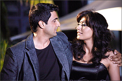 Sanjay Suri and Chitrangda Singh in a still from Sorry Bhai