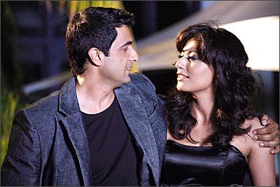 Sanjay Suri and Chitrangda Singh in a still from Sorry Bhai