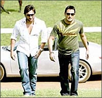 Saif Ali Khan and Akshaye Khanna in Race