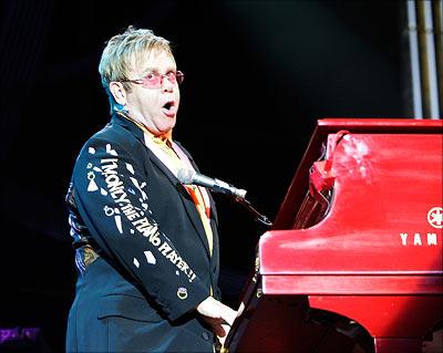 Sir Elton John, live on stage