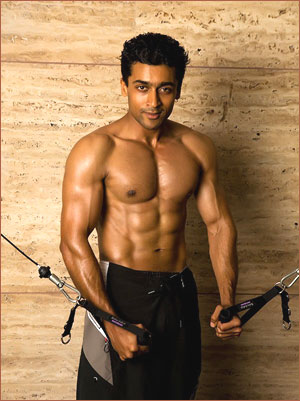 Actor Surya Six pack Abs Photo