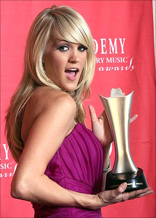Carrie Underwood On Idol. Country star Carrie Underwood