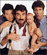 A still from Three Men and A Baby