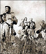 A still from The Seven samurai