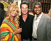 Goldie Hawn, Kurt Russel and Ashok