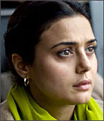Preity Zinta in a still from Heaven on Earth