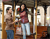Jesse Metcalfe and Shriya Saran