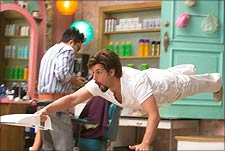 A still from You Don't Mess With The Zohan