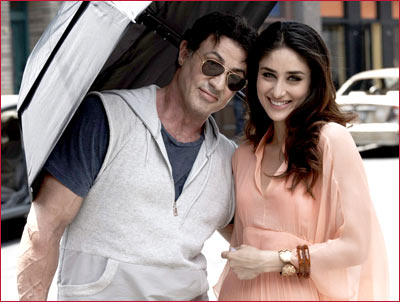 Sylvester Stallone and Kareena Kapoor in Kambakkht Ishq