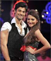 Hanif Hilal and Gauhar Khan
