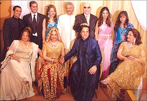 The Khan family at Fardeen's wedding