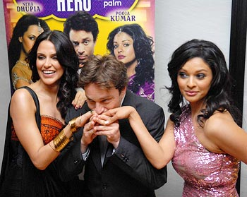 Neha Dhupia, Chris Kattan and Pooja Kumar