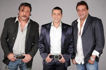 Jackie Shroff, Salman Khan and Sanjay Dutt